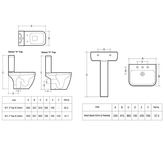 Technical drawing QS-V36252 / METPAKSC-DL