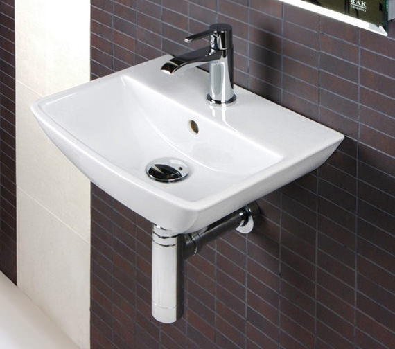 Rak Summit 1 Tap Hole Wall Hung Hand Basin 400mm Sum40bas1
