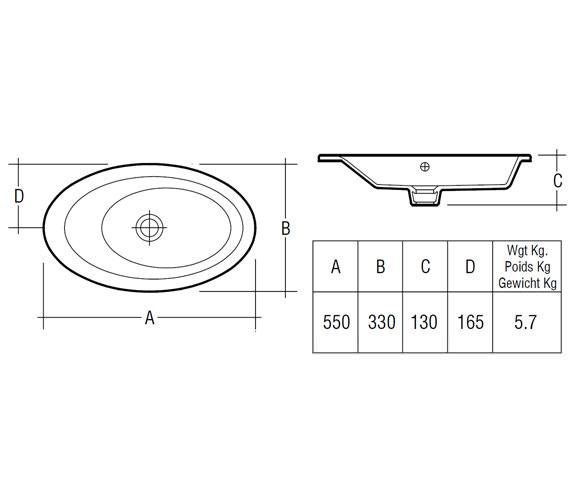 Technical drawing QS-V36256 / Rak Ceramics - QS-V36256