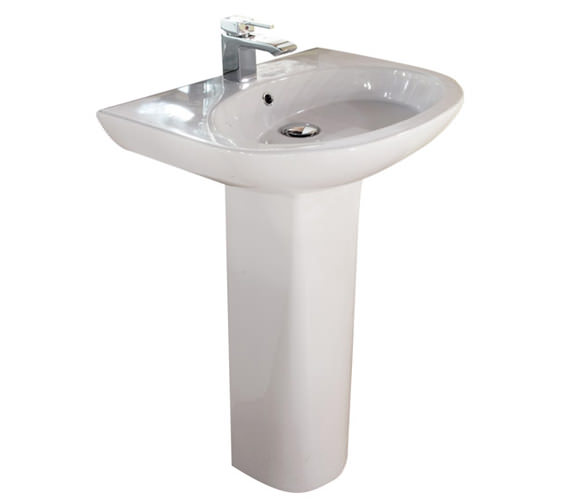 RAK Infinity 1 Tap Hole Basin With Full Pedestal 600mm - INF60BAS1