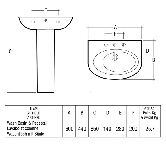 Technical drawing QS-V36258 / INF60BAS1