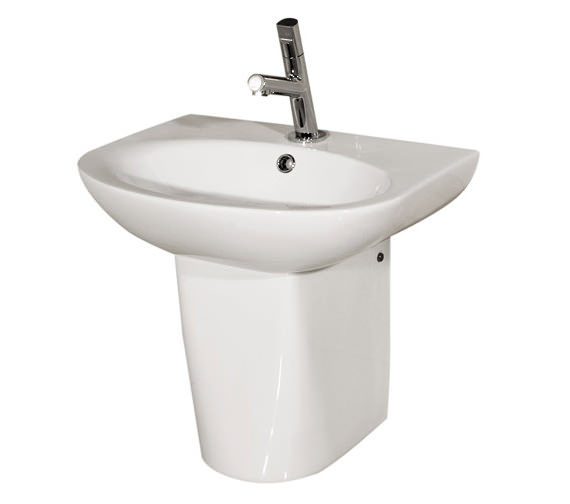 RAK Infinity 1 Tap Hole Basin With Semi Pedestal 500mm - INF50BAS1