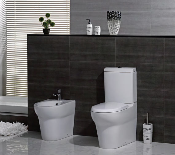 Additional image of Rak Infinity Close Coupled Back To Wall WC With Soft Close Seat 695mm