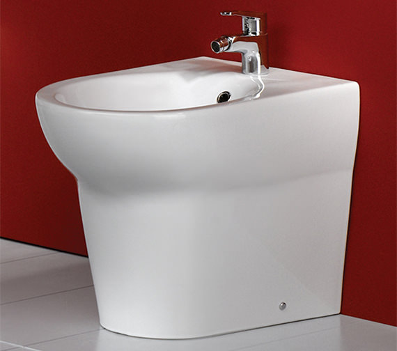 Additional image of RAK Infinity 1 Tap Hole Back To Wall Bidet 585mm - INFBTWBID