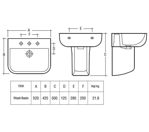 Technical drawing QS-V36287 / S60052BAS1