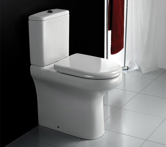 RAK Rimless Compact Deluxe Close Coupled Fully Back To Wall WC Pak 625mm