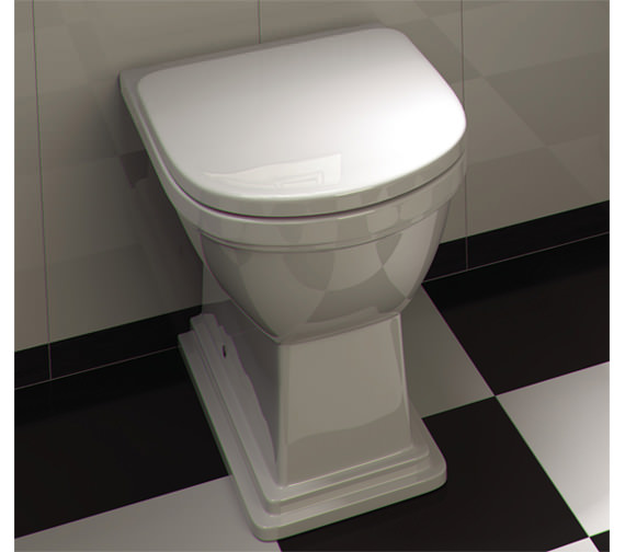 Additional image of RAK Empire Back To Wall WC Pan With Standard Seat 540mm