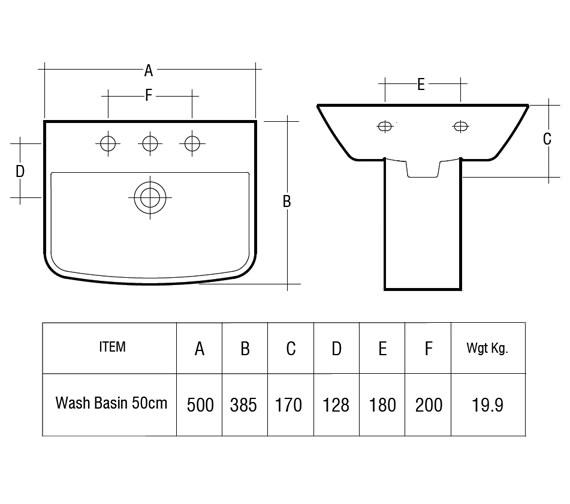 Technical drawing QS-V36307 / SUM50BAS1