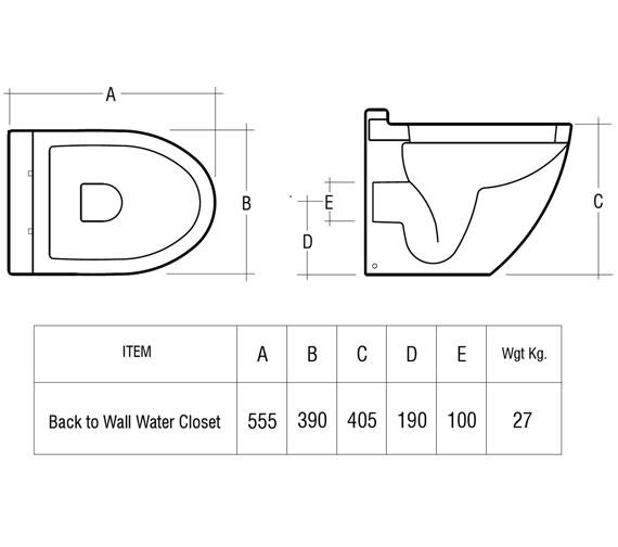 Technical drawing QS-V36315 / RESBTWPAN