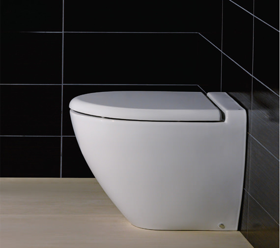 Additional image of RAK Reserva Back To Wall WC Pan With Standard Toilet Seat 555mm
