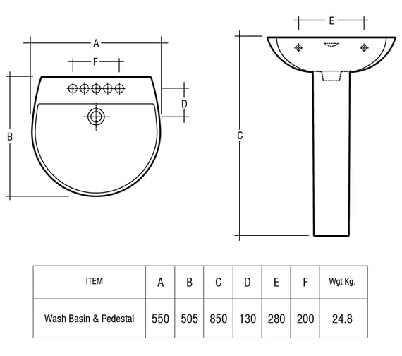 Technical drawing QS-V36319 / RES55BAS1