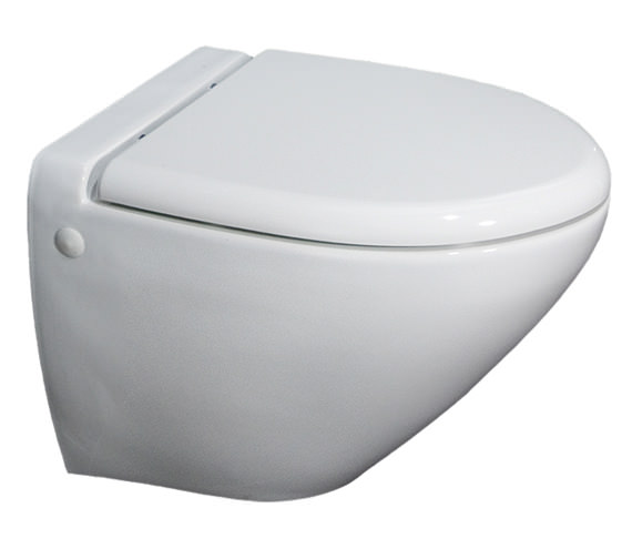 RAK Reserva Wall Hung WC Pan With Standard Toilet Seat 555mm