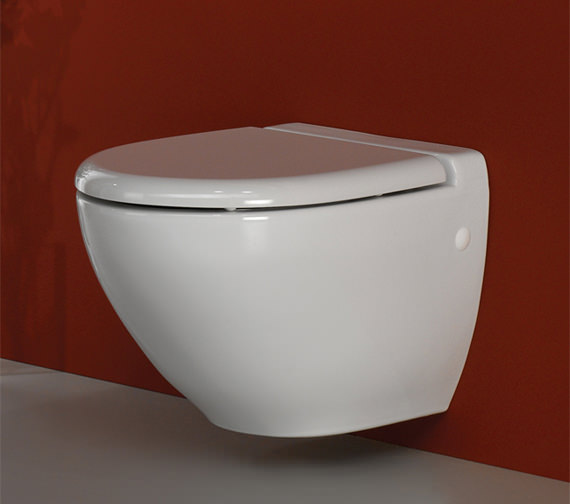 Additional image of RAK Reserva Wall Hung WC Pan With Standard Toilet Seat 555mm