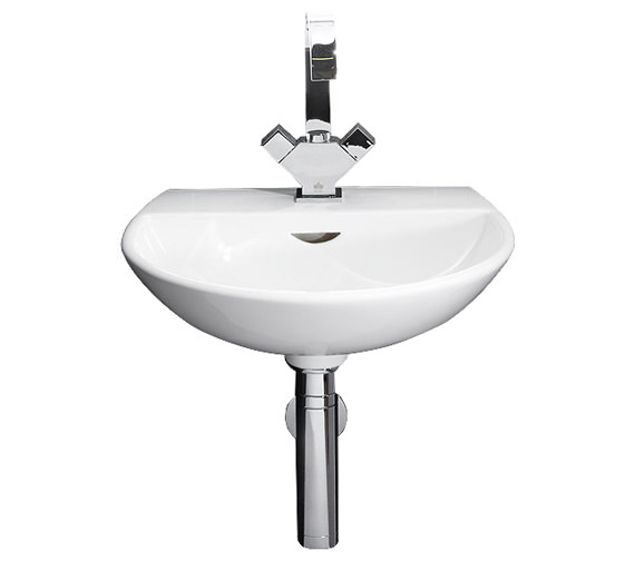 RAK Reserva 1 Tap Hole Wall Hung Hand Basin 400mm - RES40BAS1