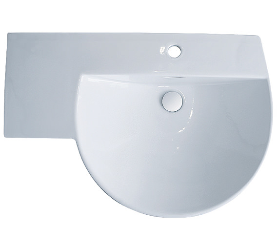 RAK Reserva 1 Tap Hole Winged Basin With Left Hand Shelf 710mm
