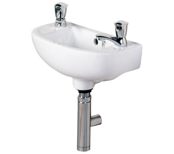 Additional image of RAK Compact 1 Tap Hole Slimline Basin 450mm Left Hand - COMSLWB1LH