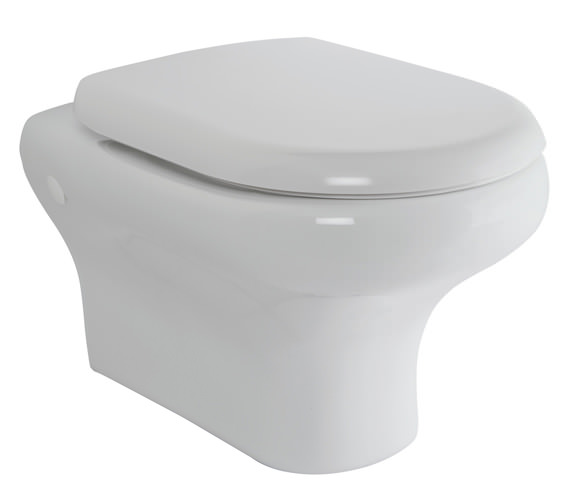 RAK Compact New Wall Hung WC Pan With Soft-Close Seat 520mm