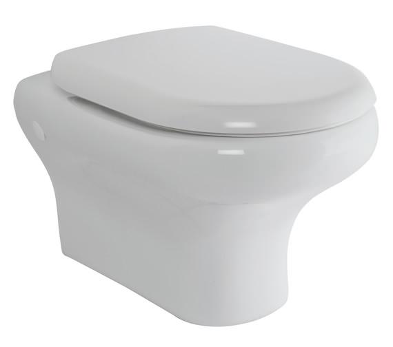 RAK Compact New Wall Hung WC Pan With Soft-Close Seat 520mm