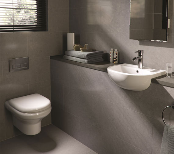 Additional image of RAK Compact New Wall Hung WC Pan With Soft-Close Seat 520mm