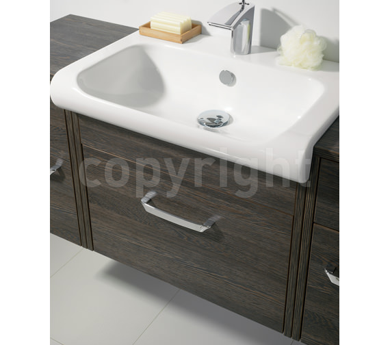 Additional image of Bauhaus Essence 600mm Wall Hung Ebony Vanity Unit And Basin