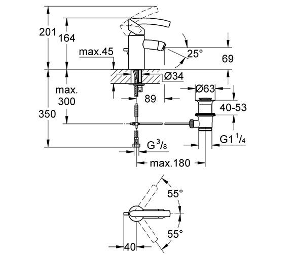 Technical drawing QS-V364 / 33348000