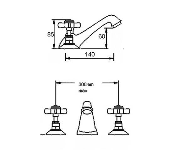 Technical drawing QS-V36562 / I307X