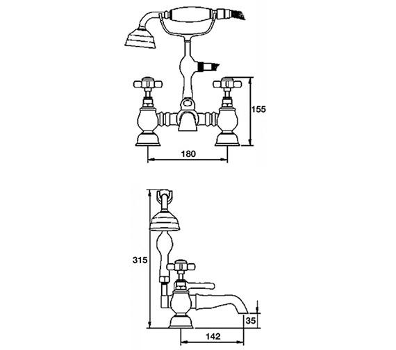 Technical drawing QS-V36570 / I309X