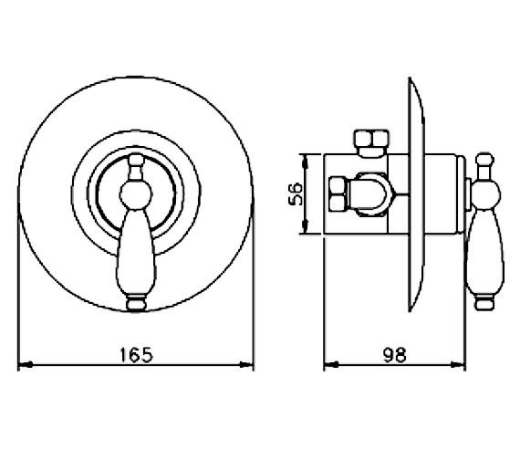 Technical drawing QS-V36579 / A3380