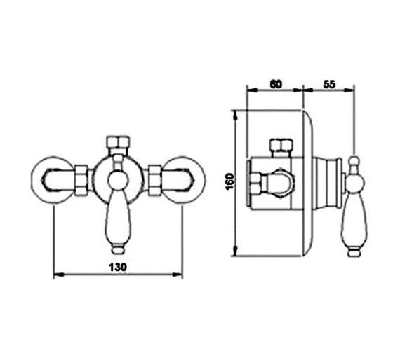Technical drawing QS-V36580 / A3380