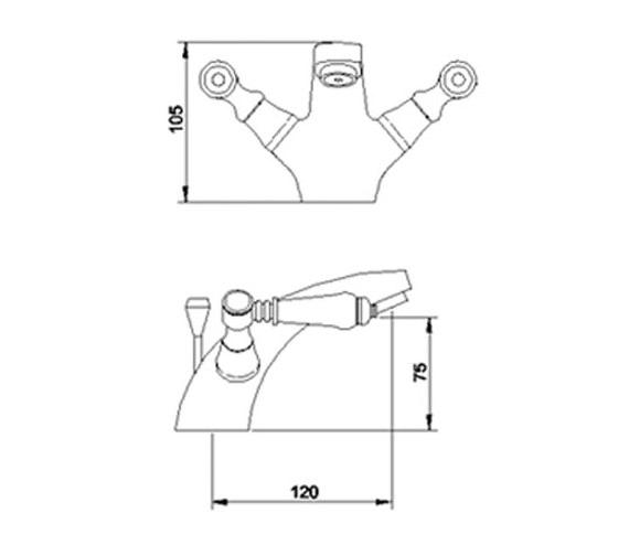 Technical drawing QS-V36589 / XM305