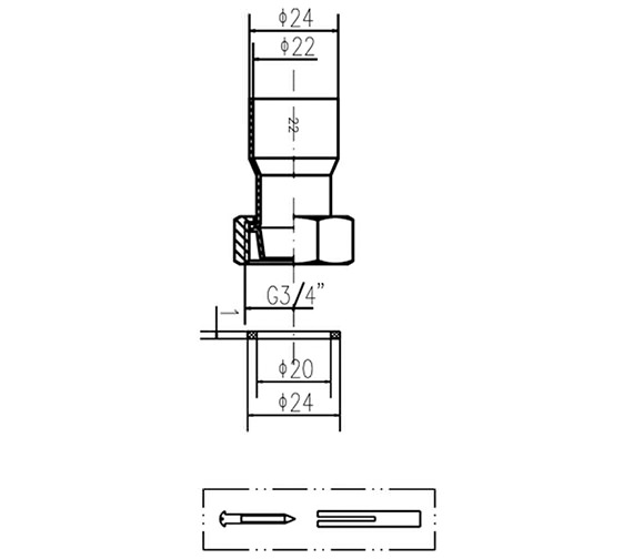 Technical drawing QS-V37007 / DA314