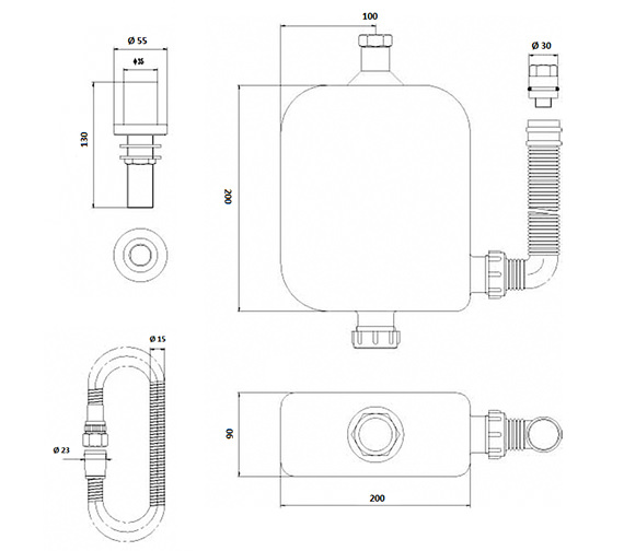 Technical drawing QS-V37017 / EA383