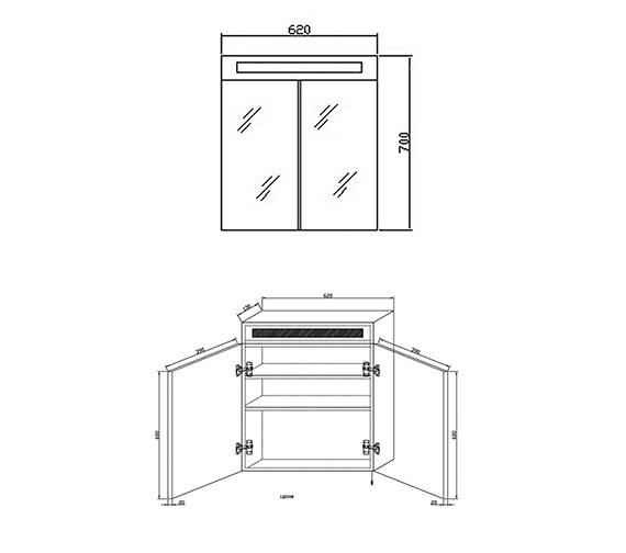 Technical drawing QS-V37023 / LQ334