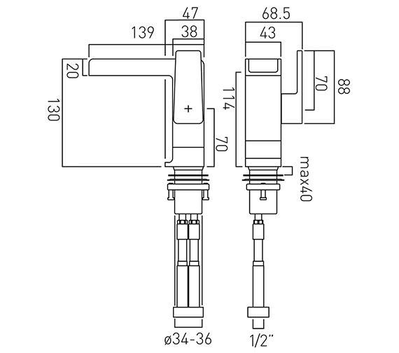 Technical drawing QS-V37024 / SYN-100/SB-C/P