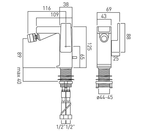 Technical drawing QS-V37029 / SYN-110-C/P