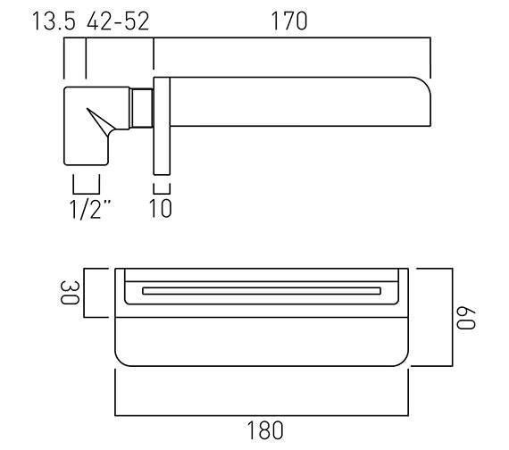 Technical drawing QS-V37031 / SYN-140/W-C/P