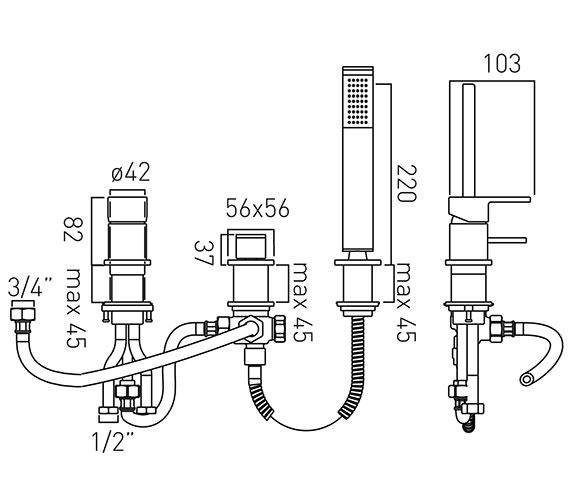 Technical drawing QS-V37034 / SYN-132/NS-C/P