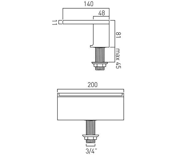 Technical drawing QS-V37035 / SYN-140/D-C/P
