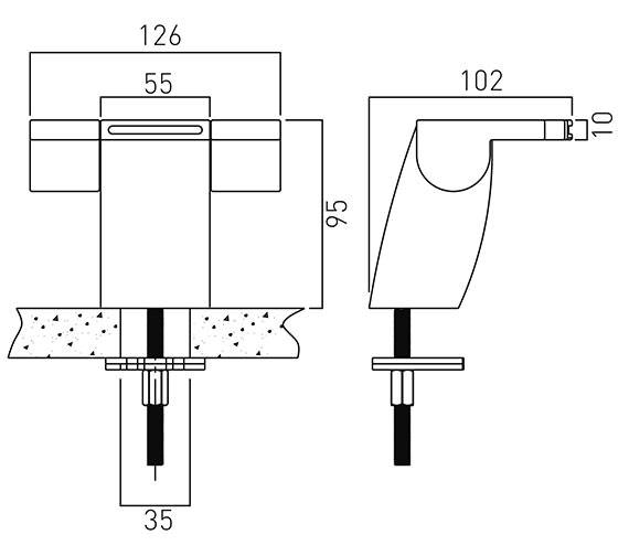 Technical drawing QS-V37039 / SUM-100/SB-C/P