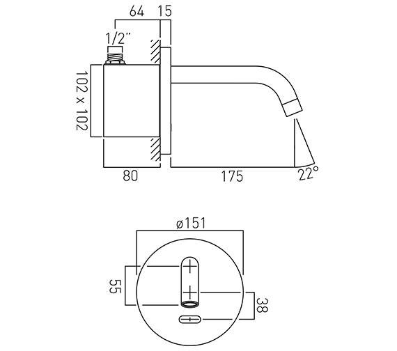 Technical drawing QS-V37047 / IR-109/ZOO-C/P
