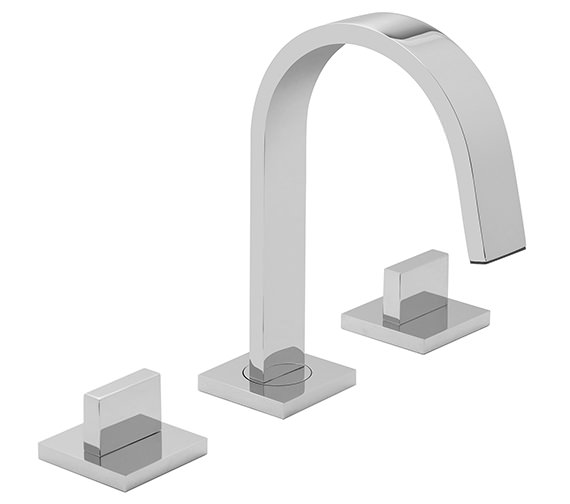 Vado Geo 3 Hole Basin Mixer Tap Deck Mounted - GEO-101