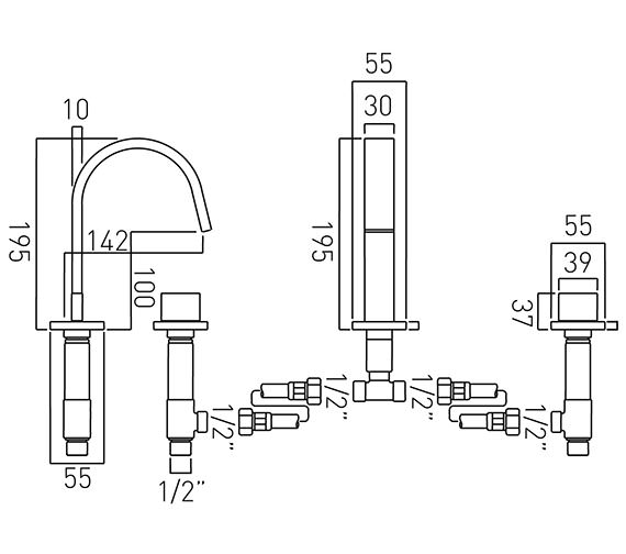 Technical drawing QS-V37053 / GEO-101-C/P