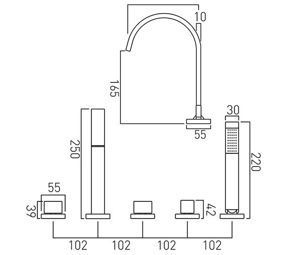 Technical drawing QS-V37054 / GEO-135-3/4-C/P
