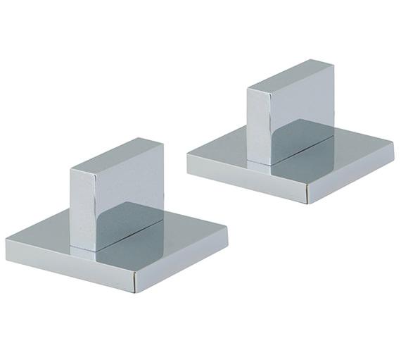 Vado Geo Pair Of Deck Mounted Three-Fourths Inch Valves - GEO-142-PR-3-4