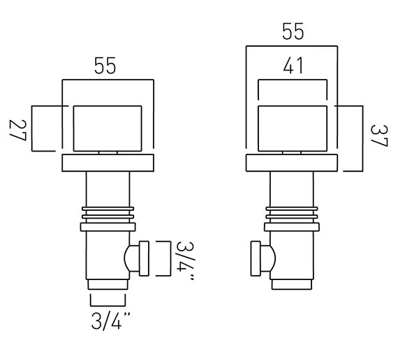 Technical drawing QS-V37056 / GEO-142/PR-3/4-C/P