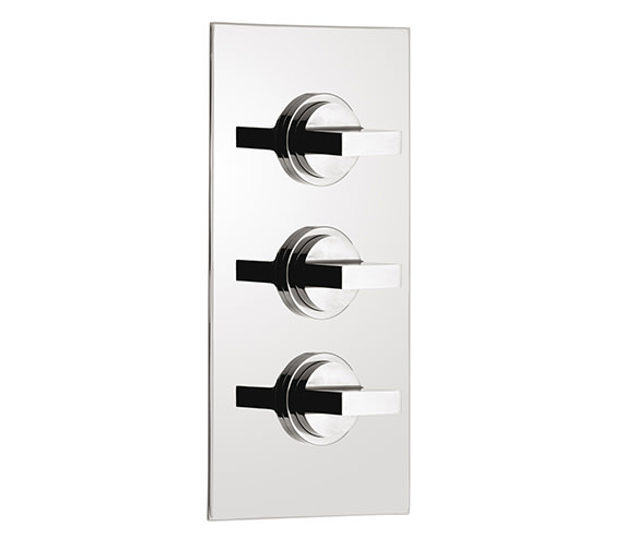 Vado Notion Concealed 3 Handle Thermostatic Shower Valve