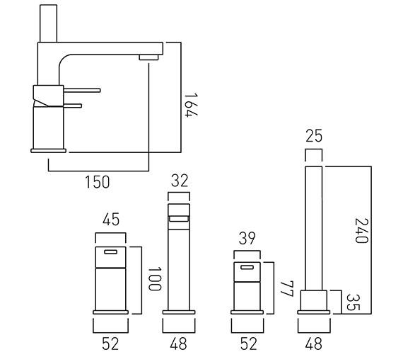 Technical drawing QS-V37073 / TE-132-C/P