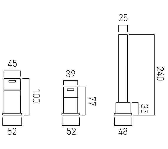 Technical drawing QS-V37075 / TE-132/NS-C/P