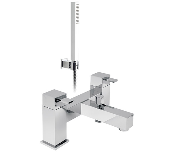 Vado Te 2 Hole Bath Shower Mixer Tap With Shower Kit - TE-130+K