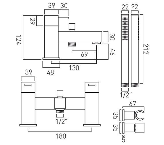 Technical drawing QS-V37079 / TE-130+K-C/P